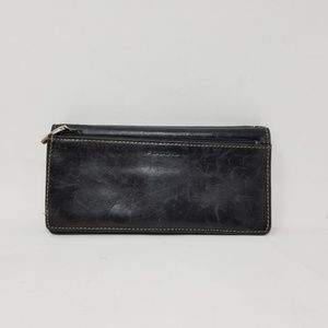 Fossil Black Leather Women's Wallet One Size